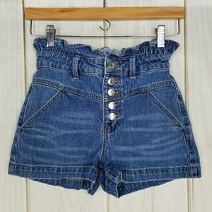 Wild Fable High-rise Waist Paperbag Jean Shorts